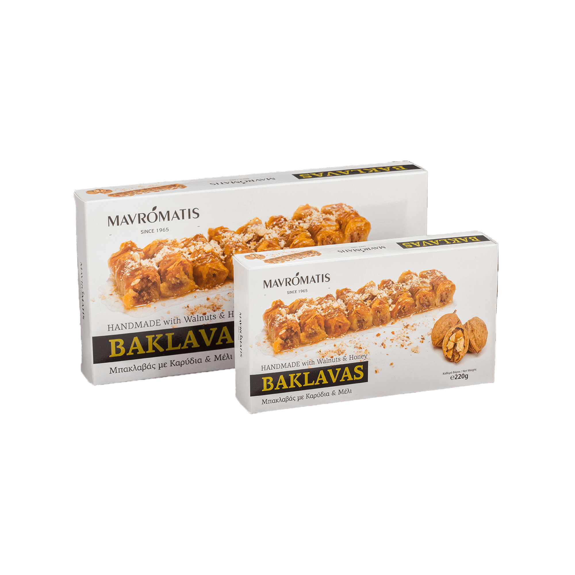baklavas with walnuts and honey